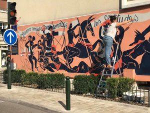 le mur orléans olivia de bona street art nouvelle fresque